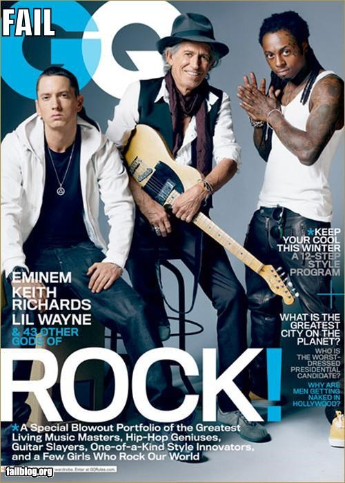 eminem failboat g rated Keith Richards lil wayne magazine Music rock and roll - 5356734208