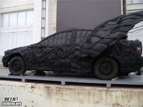 art car design recycle rubber tire - 5356887296
