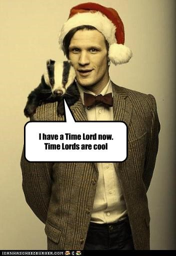 badger cool doctor who Matt Smith santa Time lord - 5357165824