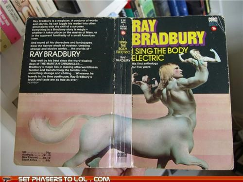 books,centaur,cover art,ray bradbury,wtf