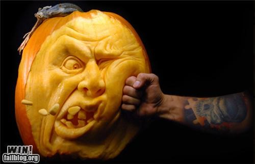 carving crazy detailed halloween pumpkins sculpture - 5357216256