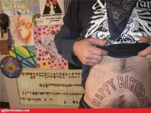 belly tats,words