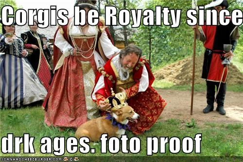 awesome corgy crown dark ages royalty - 5357609728