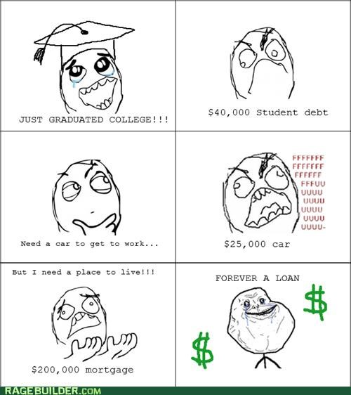 debt forever alone loan Rage Comics - 5357736448