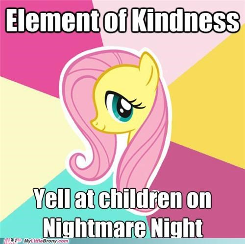 element of kindness,fluttershy,flutterwry,mean streak,meme,nightmare night