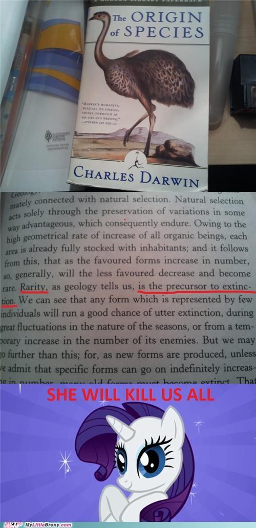best of week charles darwin kill us all origin of species perfectionist ponies rarity - 5358048512