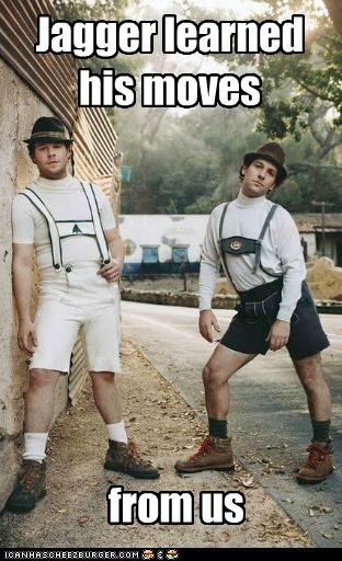 lederhosen moves moves like jagger paul rudd Seth Rogen - 5358144000