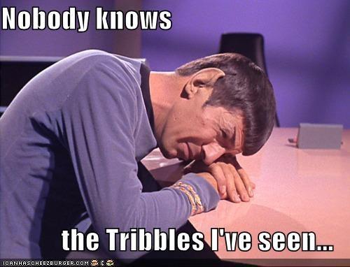 Leonard Nimoy nobody Spock Star Trek tribbles - 5358145792