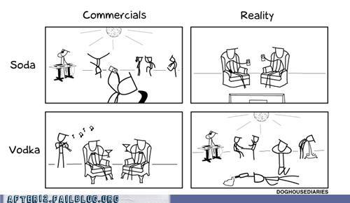 ads comics commercials reality soda vodka - 5358475008