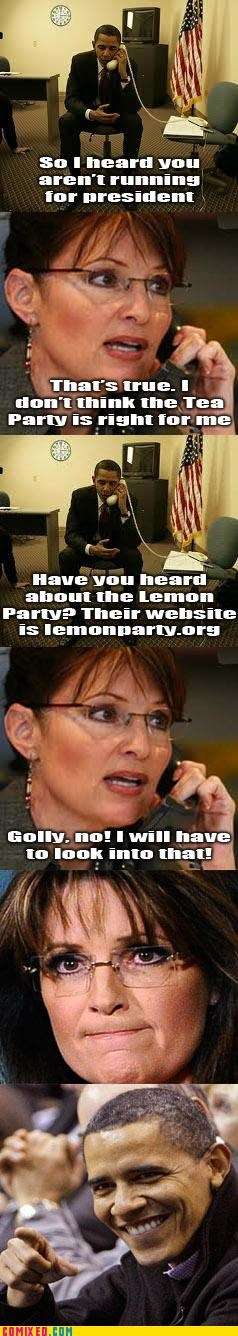 lemon party obama politics Sarah Palin tea party trollbama