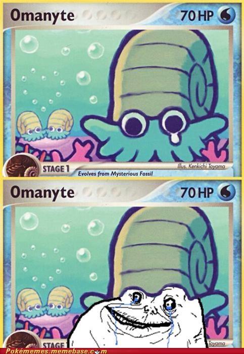 forever alone meme Memes omanyte pokémon card - 5358946048