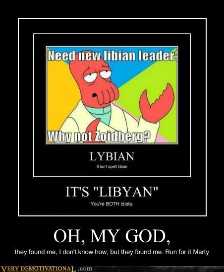 back to the future hilarious libyans marty Zoidberg - 5359036416
