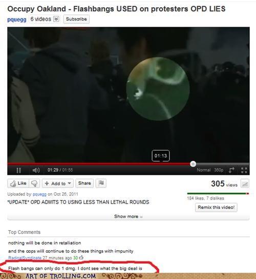 flash bangs grenade Occupy Wall Street youtube - 5359149824