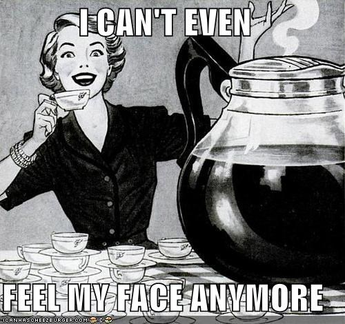caffeine coffee excited happy historic lols i-cant-feel-my-face vintage - 5359391744