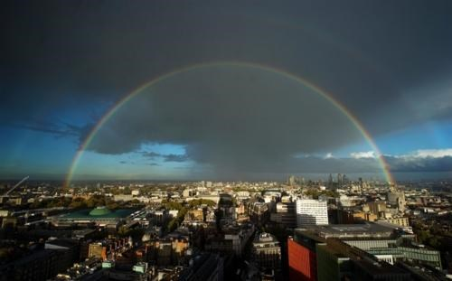 double rainbow,London,Photo,Rainbow Chaser