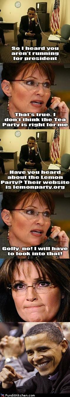 barack obama,lemonparty,political pictures,Sarah Palin