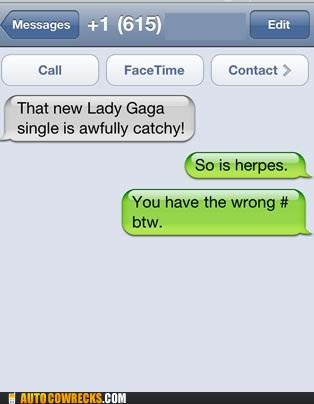 carousel,gaga,herpes,lady gaga catchy,STD,sti,Trolling Wrong Numbers,wrong number