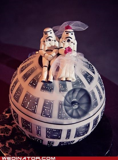 cake,Death Star,funny wedding photos,Hall of Fame,stormtrooper,wedding cakes