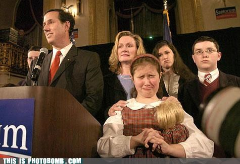 Awkward candidate effect gross kids republican Santorum - 5359841024