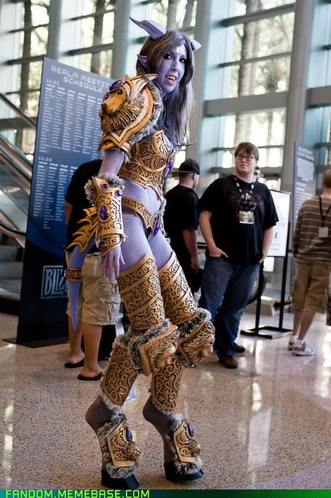 blizzard,blizzcon,cosplay,dranei,dwarf,npc,orc,starcraft,video games,worgen,world of warcraft,WoW