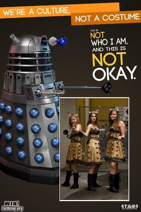 costume,dalek,doctor who,halloween,nerdgasm