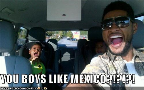 driving happy mexico roflrazzi screaming usher wtf - 5359959552