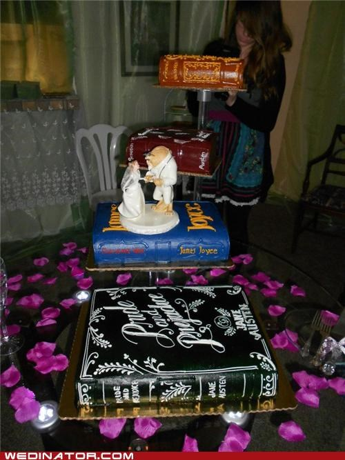 books,cakes,funny wedding photos,Hall of Fame,jane austen,novels,Pride And Prejudice,wedding cake