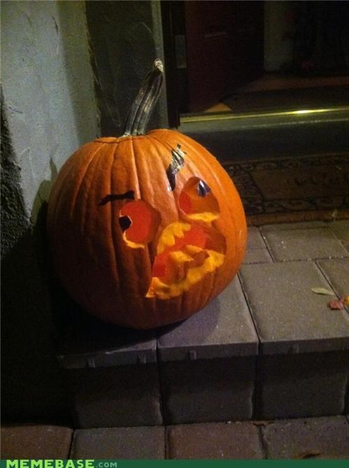 carving faces halloween IRL pumpkins Rage Comics