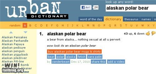 Alaskan Polar Bear says it all