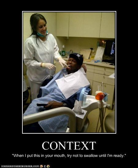 50 cent,context,dentists,innuendo,rappers,sexual