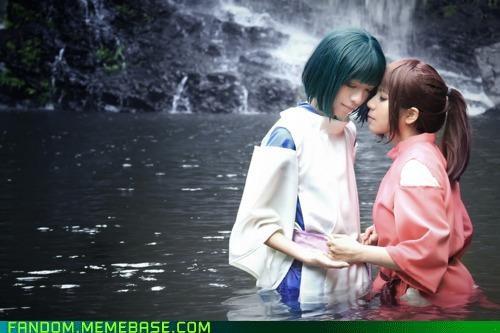 anime Chihiro cosplay Haku spirited away - 5360360704