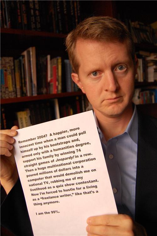 Ken Jennings Occupy Wall Street The 99 Percent - 5360383488