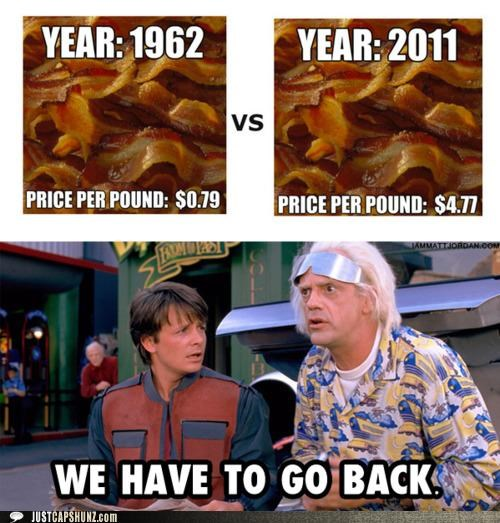 back to the future bacon true fact we have to go back - 5360394240