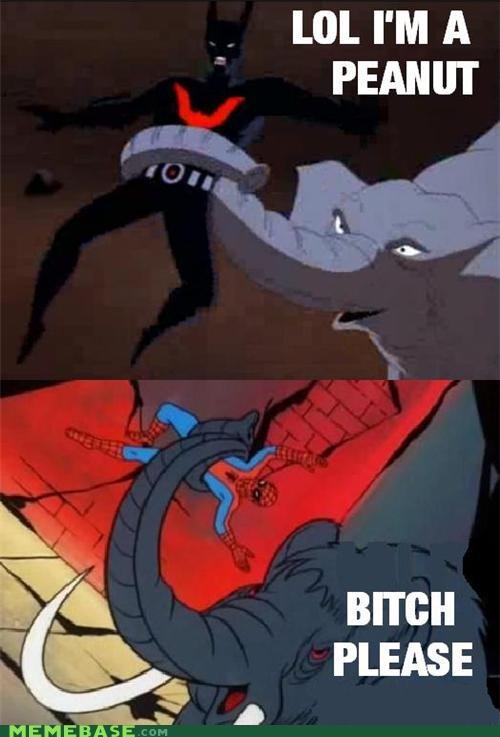 batman cartoons elephant peanut Spider-Man Super-Lols - 5360421120