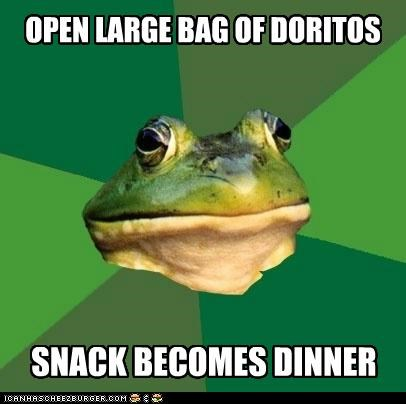 animemes bag chips dinner doritos foul bachelor frog large rears snack - 5360477952