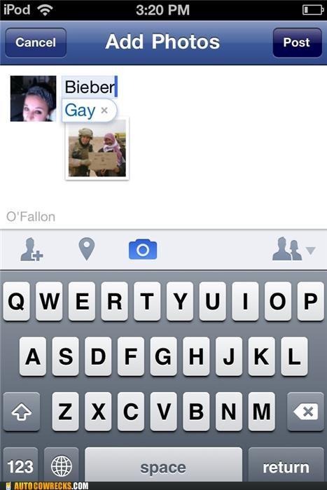 autocorrect Bieber gay homosexual justin bieber - 5360527360