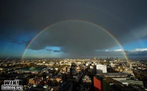 double rainbow London mother nature ftw photography rainbow - 5360550912