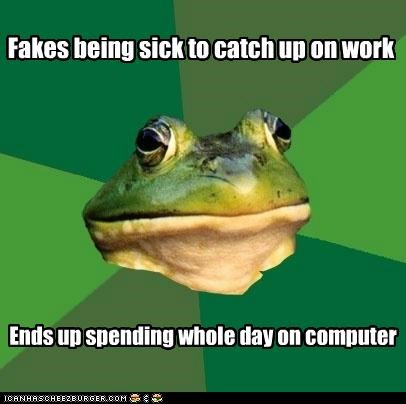 computer,foul bachelor frog,home,school,sick