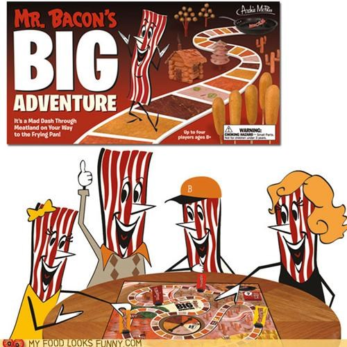 adventure,bacon,board game,game