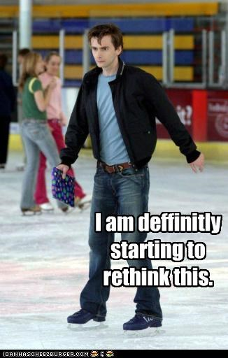 David Tennant doctor who galifrey ice ice skating rethink the doctor