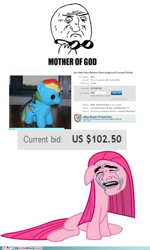 ebay mother of god Plushie ponies rainbow dash want y u no cheaper - 5360996608