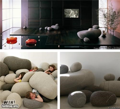 clever design living room Pillow rock - 5361025536