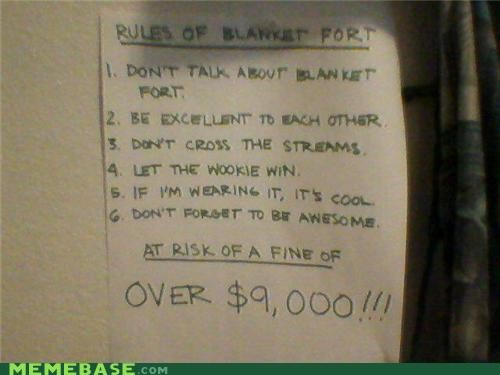 Rules for Fort Blanket