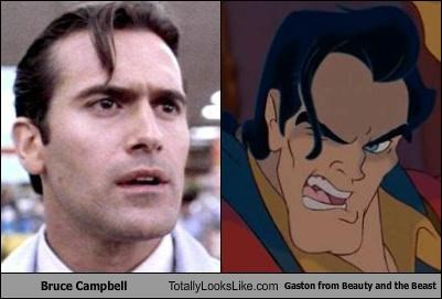Beauty and the Beast,bruce campbell,disney,funny,Gaston,Hall of Fame,TLL