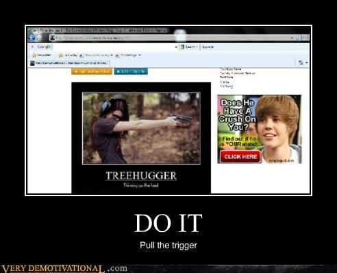 guns,hilarious,justin bieber,shoot,trigger