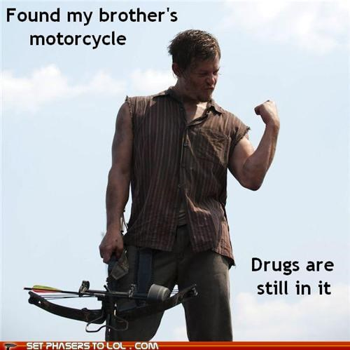 crossbow daryl dixon drugs motorcycle norman reedus success The Walking Dead