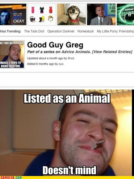 advice animal,Good Dog Greg,Good Guy Greg,know your meme,meme,the internets