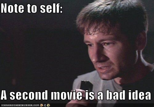 bad idea David Duchovny fox mulder Movie note to self x files
