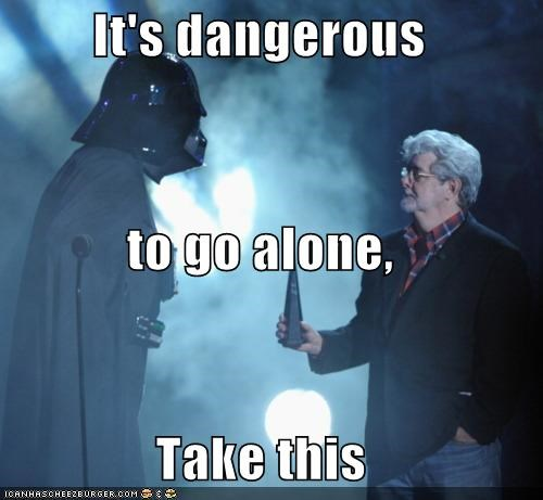 darth vader george lucas its dangerous to go alone star wars zelda