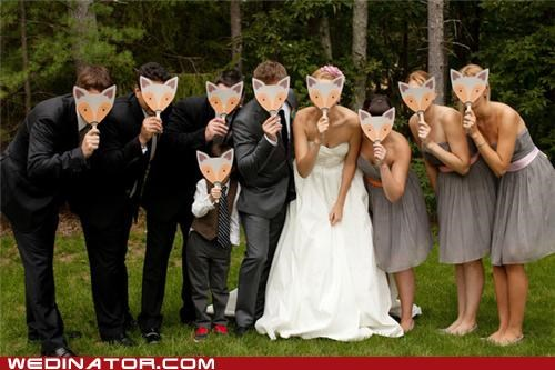 foxes funny wedding photos furries mustache on stick - 5362142208